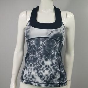 Lululemon Grey Tie-Dye Pattern Tank Size 4